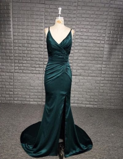 Front of Green Prom Dress
