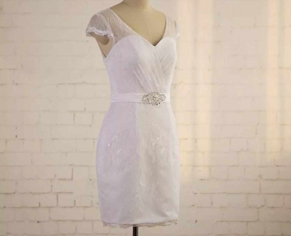 Short Fitted Bridal Dress
