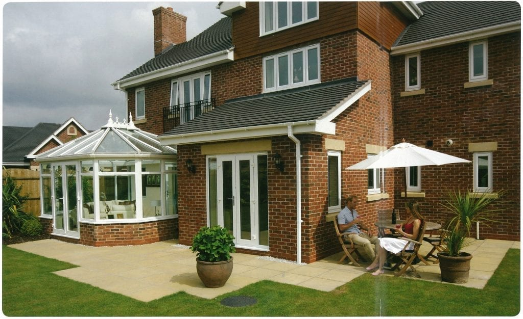 Giraffe Windows and Doors white conservatory windows Modern double glazing