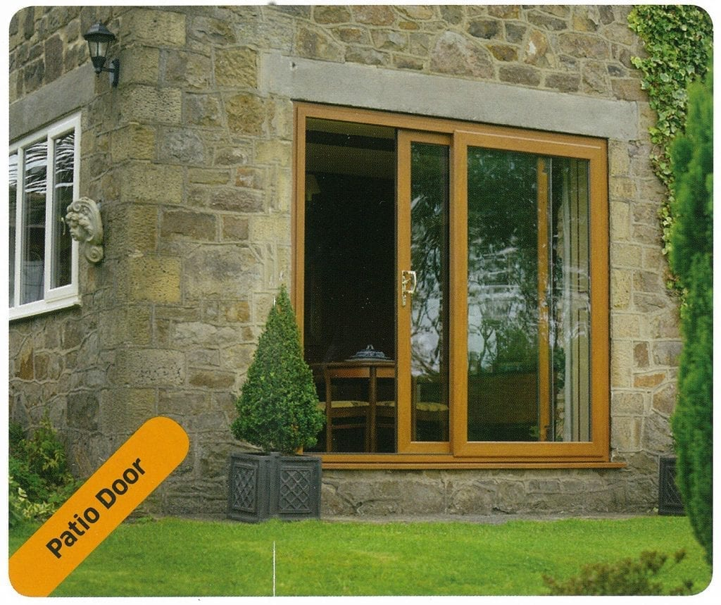 Giraffe Windows and Doors oak effect sliding doors Modern double glazing
