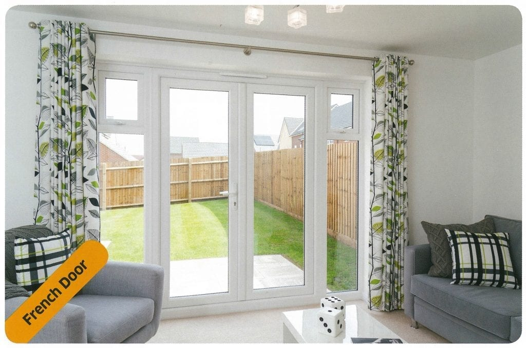 Giraffe Windows and Doors Yorkshire White Patio French Doors Modern double glazing