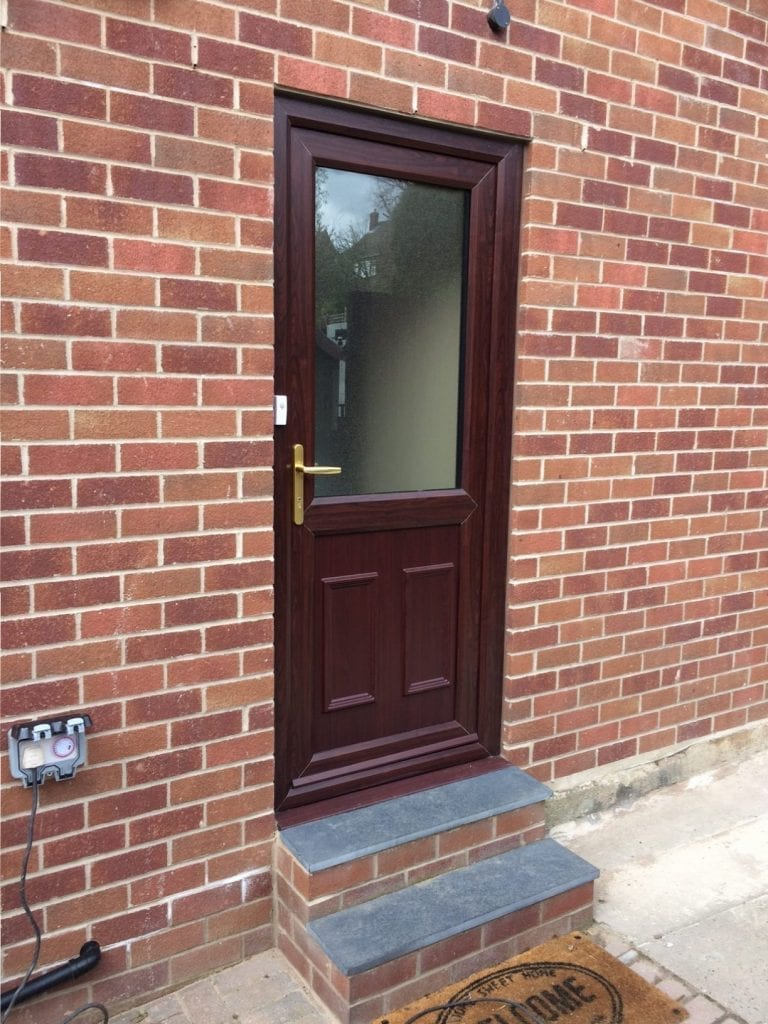Giraffe Windows and Doors House Door in Brown Modern double glazing