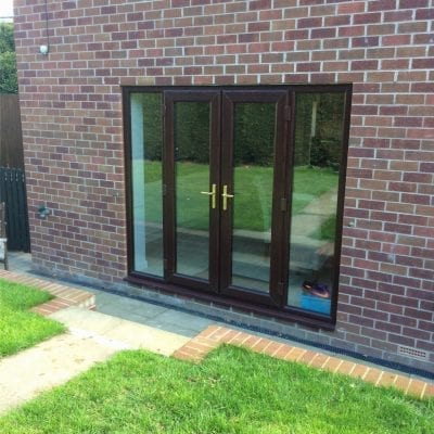 Giraffe Windows and Doors Patio doors in Brown Modern double glazing