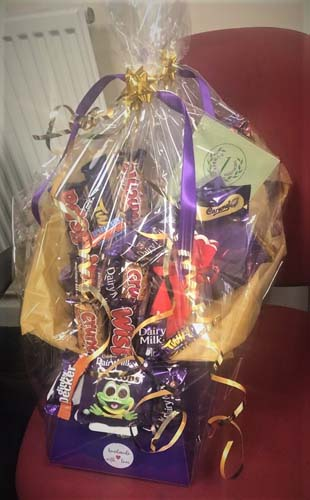 Chocolate Christmas hamper for care staff