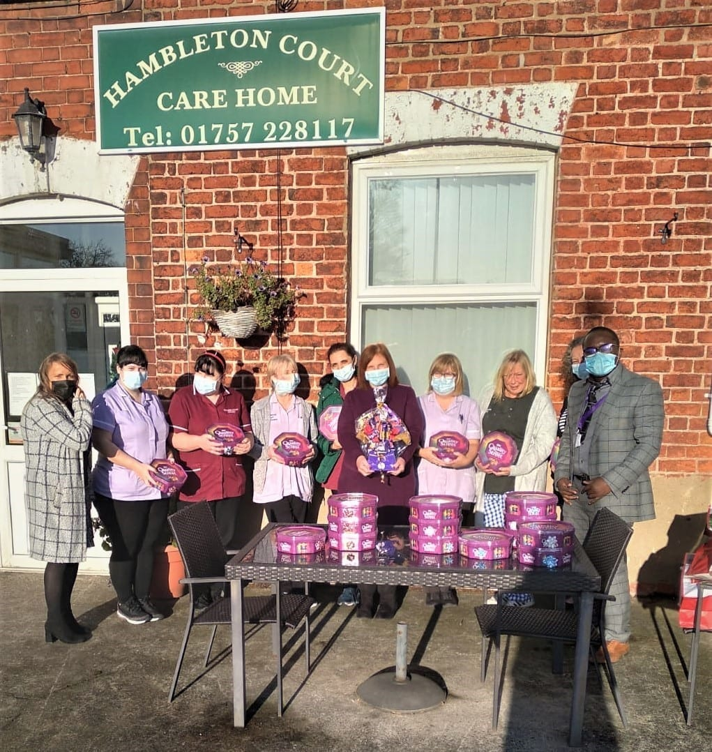 The winners of November Competition were the staff and management of Hambleton Court Care Home in Selby, presented by the General Manager and the shift Coordinator