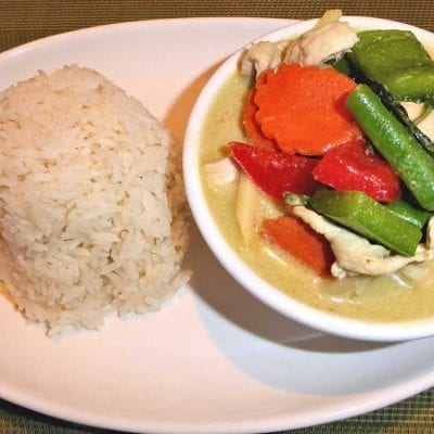 Rice Green Curry My Thai Restaurants Leeds
